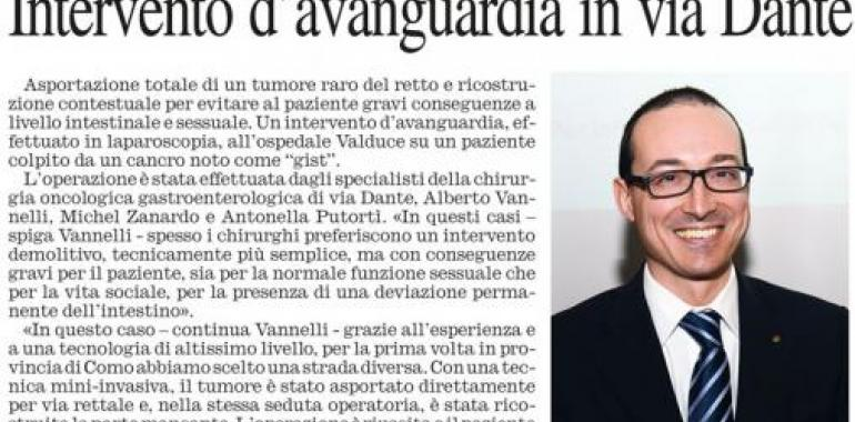 Intervento d'avanguardia in via Dante